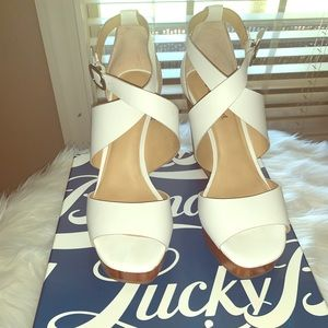 White lucky brand wedges
